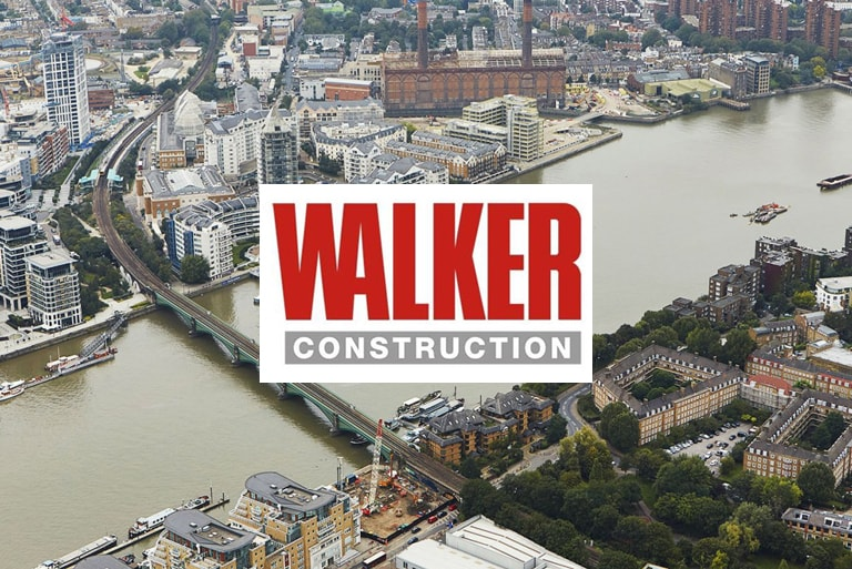 Walker construction logo & case study