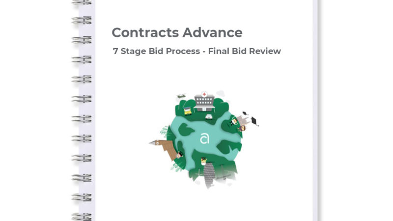 Final bid review stage of our 7 stage bid process